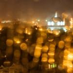 Дождь в Евпатории. Фото Елены Покрепы.